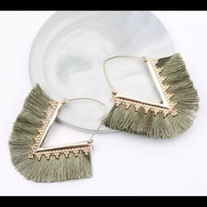 Bohemian VShape Tassel Earrings